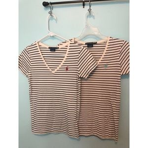Polo Ralph Lauren V neck shirts